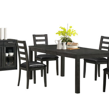 "Charcoal Grey 38""X 60""X 78"" Veneer Top Dining Table"
