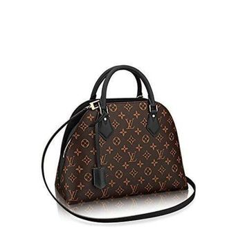 ESBYD9 LV Authentic Louis Vuitton Monogram Canvas ALMA B'N'B Bag Handbag Noir Article: M41780
