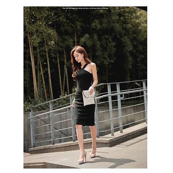 Korean Fashion Women Bandage Dress Summer Fashion Sleeveless Bodycon Dresses Female Summer Dress 2017 Sexy Club Dress