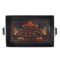 Halloween Wood Serving Tray Purple Skull - Hyde and Eek! Boutique™