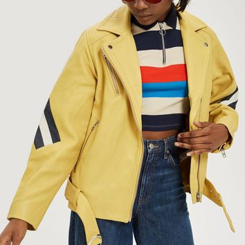 Yellow Leather Jacket | Topshop