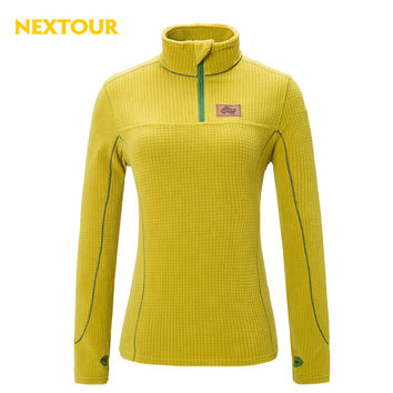 NEXTOUR   Outdoor  Solid Color Pollar Fleece jacket Women Thermal  Plaid Fabric  Jacket for Hiking Climbing  Running J2096