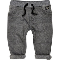 River Island Mini boys grey line fleece joggers