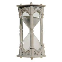 Hour Glass in Antique White Finish - Walmart.com