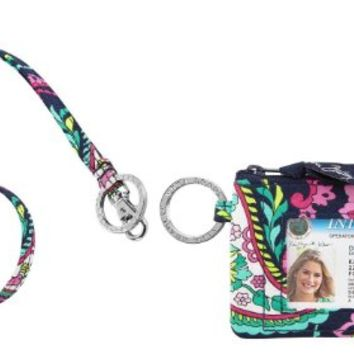 Vera Bradley Zip Id Case and Lanyard in Petal Paisley