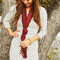 EVERLY: Seeing Spots Dress/Ivory | Hope's
