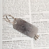 Hamilton The Musical Room Where It Happens Stamped Charm Keychain