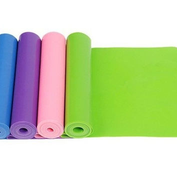 Yoga Pilates Stretch Exercise Fitness Band Gym Mat belt F481 = 1933343108