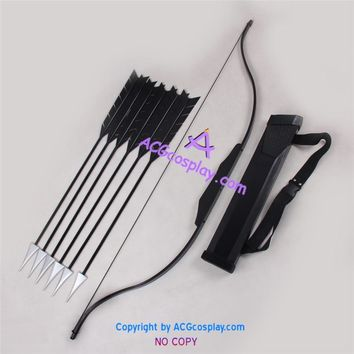 The Hunger Games Katniss Everdeen Bow Arrows and Arrow Holder porp Cosplay Props
