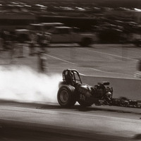 NHRA Top Fuel Rail Dragster Photo by David Perry Fine Art Print