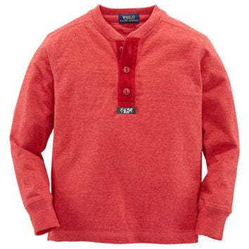 Ralph Lauren Childrenswear Boys 2-7 Cotton Henley Shirt
