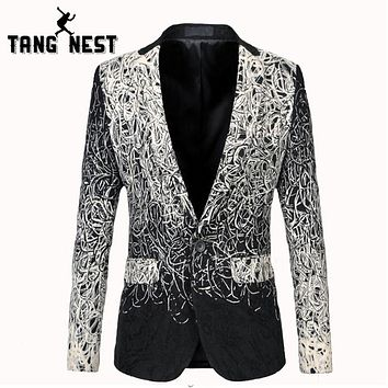 Men Single Button Pockets Blazer New Design Fashion