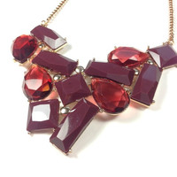 Red Wine Statement Necklace