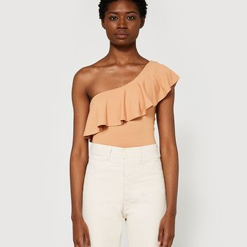 Farrow / One Shoulder Ruffle Bodysuit
