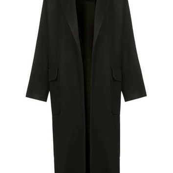 Textured Slouchy Duster Coat