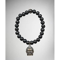 Black Buddha Beaded Bracelet - Spencer's