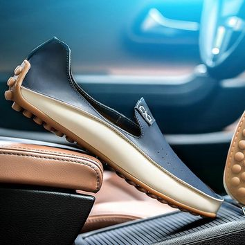 Fashion Casual Driving Shoes PU Leather Loafers Men Shoes 2017 New Men Loafers Luxury Brand Flats Shoes for Men RD910673