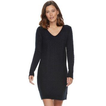 Women's Sonoma Goods For Life??v Neck Sweaterdress