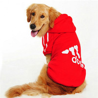 Big Dog Clothes For Dogs Costume Large Size Winter Golden Retriever Pet Coat Hoodie Apparel Clothing For Dogs Sportswear