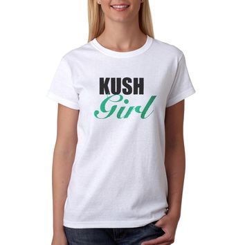 Kush Girl Women's White T-shirt