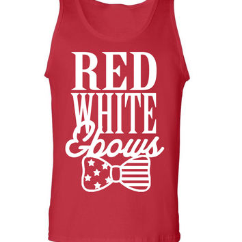 'Red, White & Bows' Tank Top