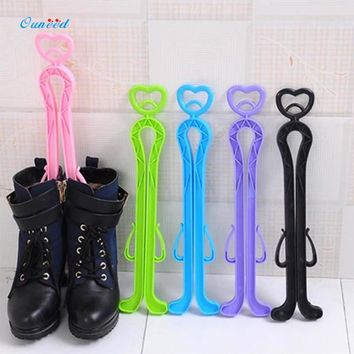 Ouneed Plastic Boot Rack Pink,Purple,Black,Red Boots Knee High Shoes Clip Support Stand Rack Holder 1PC