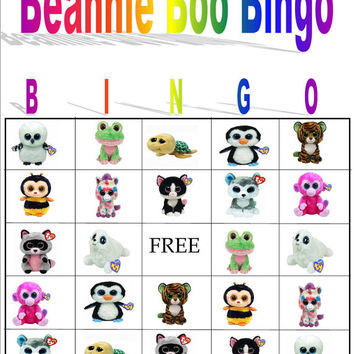 Beanie Boo Bingo Instant Download