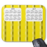 Yellow Pinstripe 2016-2017 Calendar by Janz