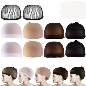 10pcs Wig Caps Neutral Nude White Brown and Black Mesh Wig Cap
