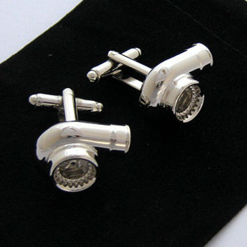 Turbo Cufflinks - Chrome