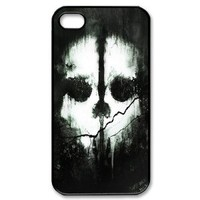 Custom Call Of Duty Ghosts Cover Case for iPhone 4 WX749