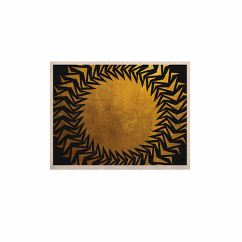 "Matt Eklund ""Gilded Chaos"" Gold Geometric KESS Naturals Canvas (Frame not Included)"