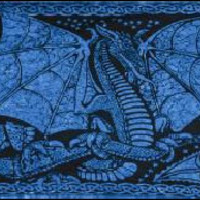 Blue Celtic Dragon Tapestry
