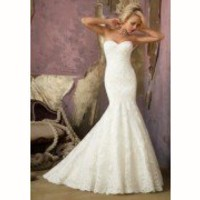 2013 Custom New Lace White/Ivory Mermaid/Trumpet Wedding Dresses Bridal Gown
