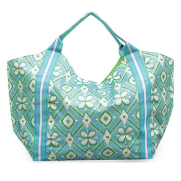 Beach Tote in Ikat Bliss