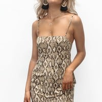 Leaving Town Snake Print Dress