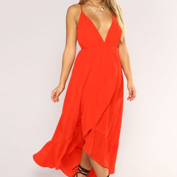 Doing Good Maxi Dress - Red
