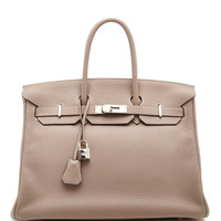Hermes 35Cm Gris Touterelle Clemence Leather Birkin by Heritage Auctions Special Collection - Moda Operandi