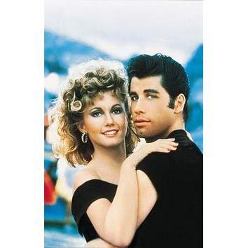Grease Art No Text John Travolta Movie poster Metal Sign Wall Art 8in x 12in