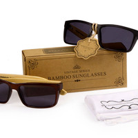 Get 3 For Special! Men's Bamboo Wood Temple Sunglasses (3 pcs.)