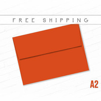 Color Envelopes A2 Size - 20 Pack Dark Orange Red Invite Envelopes High Quality Envelopes Thank You Notes Free Shipping Pumpkin Orange Sale