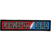Grateful Dead Men's Embroidered Patch Black