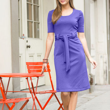 Dauphine Sheath Dress Lavender