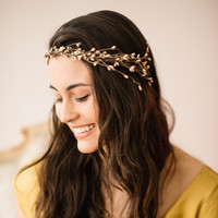 JULIA Boho flowercrown/ head piece , bridal crown