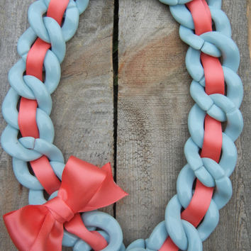 Chunky Chain and Ribbon necklaces summer accessories preppy necklace statement necklace