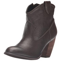 Not Rated Womens Geronimo Leather Western Ankle Boots