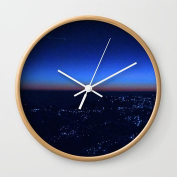 shimla dusk Wall Clock by letgofyourcolours