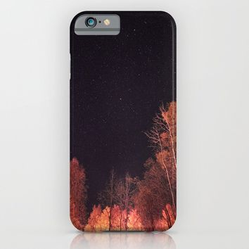 Firey woods iPhone & iPod Case by HappyMelvin