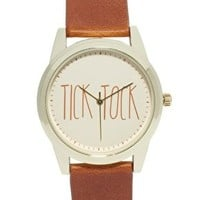 River Island Tick Tock Watch at asos.com
