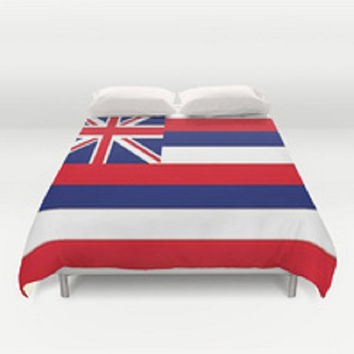 Hawaii Flag Duvet Cover Aloha State Duvet Cover Flag Duvet Cover State Flag Duvet Cover Aloha State Duvet Cover Red White Blue Duvet Cover